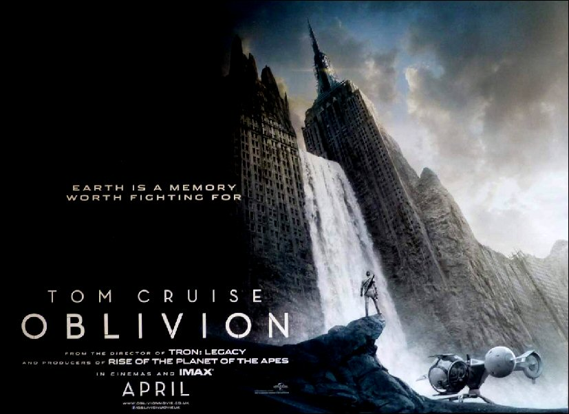 a review of the film oblivion Oblivion blu-ray review but that doesn't stop oblivion from being impressive and really rather enjoyable the film may be lacking in originality.